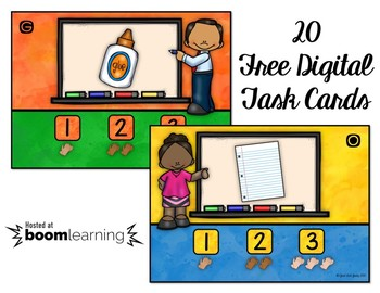 Syllable Counting at School Boom Cards and More