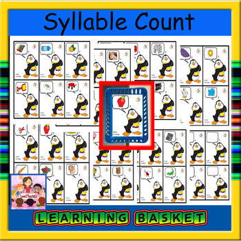 Syllable Counting/clapping penguin cards