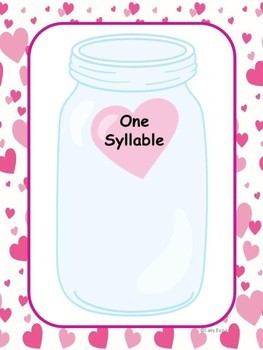 Valentine's Day Activities Syllables Literacy Center
