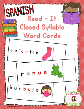 Read-It Word Cards: Closed Syllables (Spanish)