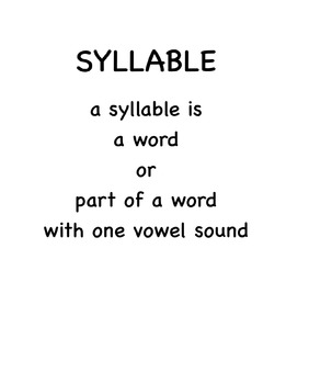 Syllable Definition