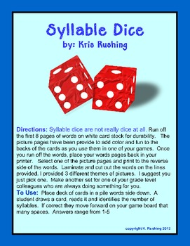 Syllable Dice