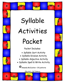 Syllable Division Activities