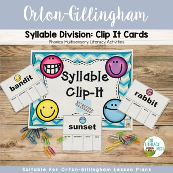 Syllable Division Clip-It Cards