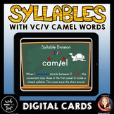 Syllable Division Digital Boom Task Cards with VC/V Camel Words