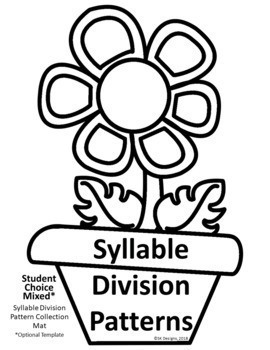 Syllable Division Fun activities to develop fluency for class, distance learning