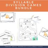 Syllable Division Games & Sorting