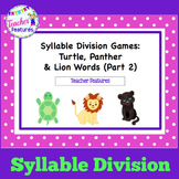 Syllables Division Games (Cle, VCCCV and CV/VC) Part 2