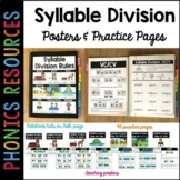 Syllable Division Posters and Practice Pages (with Google Slides)