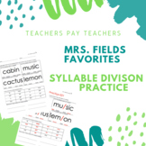 Syllable Division Practice