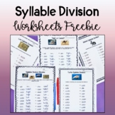 Syllable Division Practice Freebie!