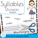 Syllable Division Practice Worksheets Word Surgery