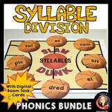 Syllable Division Review Game and Digital Task Cards Bundle