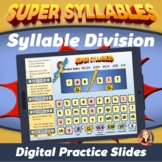 Syllable Division Rules and Word Building Digital Practice