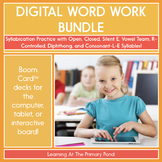 Syllable Division & Syllable Type Practice   Digital BOOM Cards™