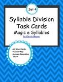 Syllable Division Task Cards Set 4: Magic E Syllables