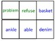 Syllable Division Words Uno Cards