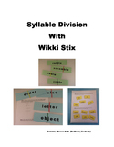 Syllable Division with Wikki Stix
