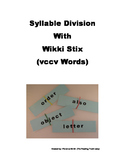 Syllable Division with Wikki Stix (vccv Words)