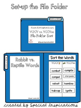 Syllable Divisions File Folder Sorts (Orton-Gillingham Based)