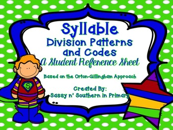 Syllable Divison Patterns and Codes