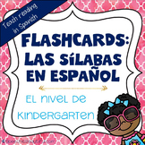 Syllable Flashcards in Spanish - Las Silabas en Espanol -