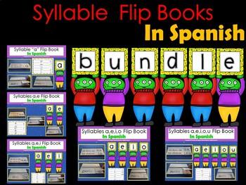 Syllable  Flip Books In Spanish (BUNDLE)