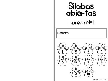 Syllable Fluency Booklets in Spanish