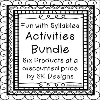 Syllable Types Fun Activities w Flash Cards, Reviews, Games Discounted Bundle