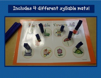 Syllable Fun! - Centers and Activities to Reinforce Syllable Segmentation