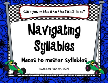 Syllable Fun-Mazes to Practice Identifying the Number of Syllables in Words
