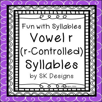 Syllables R-Controlled (Vowel R) Fluency Skills & Activity w Games & Flash Cards