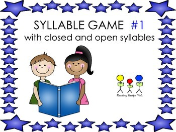 Syllable Game # 1 Open and Closed