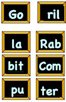 Syllable Game 2-5 Grade
