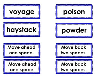 Syllable Game # 3 Vowel Teams and C+le