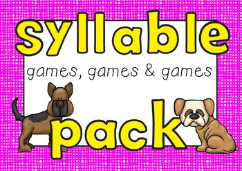 Syllable Game Pack