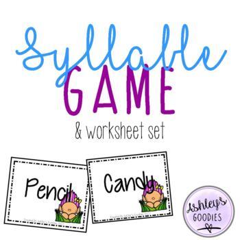 Syllable Game and No-Prep Worksheet Set (Troll Edition)