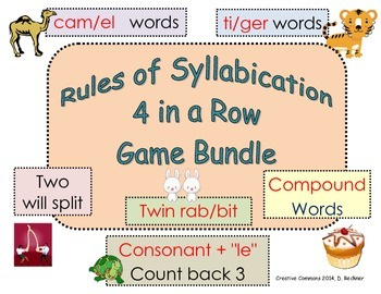 Syllable Games 4 in a Row