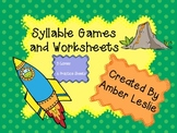 Syllable Games and Worksheets for Phonological Awareness i