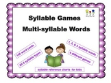 Syllable Games for Multi-syllable Words