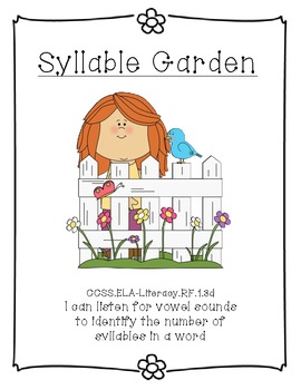 Syllable Garden File Folder Game or Center