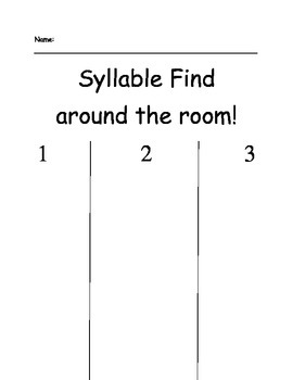 Syllable Hunt Around the Room