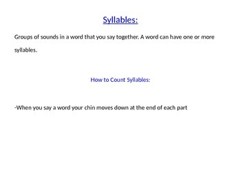 Syllable Lesson