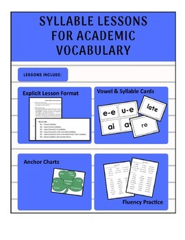 Syllable Lessons with Academic Vocabulary