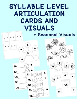 No Prep Syllable Level Articulation Cards and Visuals