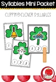 Syllable Literacy Centre Mini-Packets: Clipping Clover Syllables