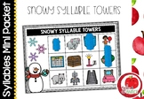 Syllable Literacy Centre Mini-Packets: Snowy Syllable Towers