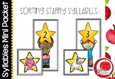 Syllable Literacy Centre Mini-Packets: Sorting Starry Syllables