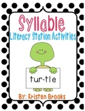 Syllable Literacy Station Activities!