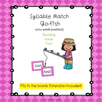 Syllable Match Go-Fish VC/CV Words